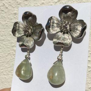 Dogwood Blossom Vintage stud earrings gem stone